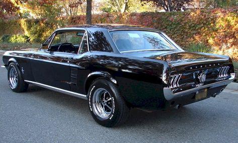 Raven Black 1967 Ford Mustang Hardtop - MustangAttitude.com Mobile