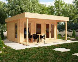 Gartenhaus Als Buro Gartenburo Schnell Und Gunstig In Der Eigenmontage Garden Log Cabins Garden Office Garden Room