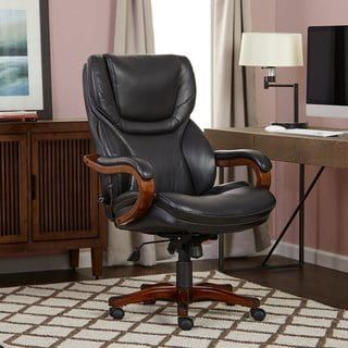 Serta Executive Office Chair in Black Bonded Leather