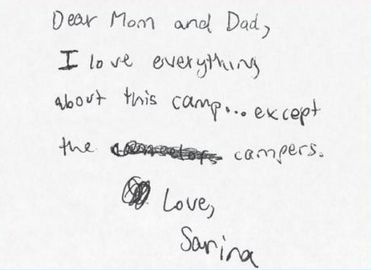Kids Who Hate Summer Camp  Camp Letters And Hate Summer