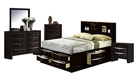 Abbey Avenue B Mar Qs5p 5 Piece Marly Storage Bedroom Set Queen