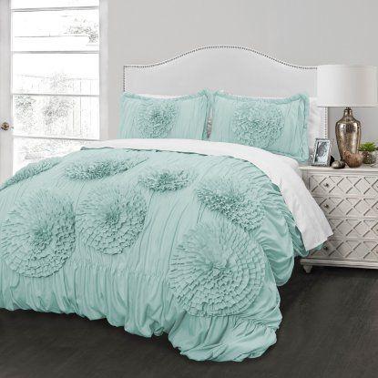 Ruffled Flowers Comforter Set By Better Homes And Gardens Hayneedle Comforter Sets Comforters King Comforter Sets