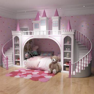 Made To Order Luxury Princess Palace Double Stairs Castle Bunk Bed By Luxuryinteriorsstore On Etsy Htt Princess Bedroom Set Kids Bedroom Sets Princess Bedrooms