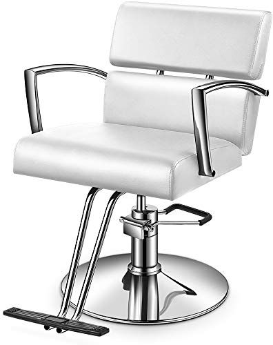 Enjoy Exclusive For Baasha White Salon Styling Chair With Hydraulic Pump White Hair Chair For Beauty Salon White Hair Styling Chair Hydraulic Chairs For Hair Salon Styling Chairs Beauty Chair