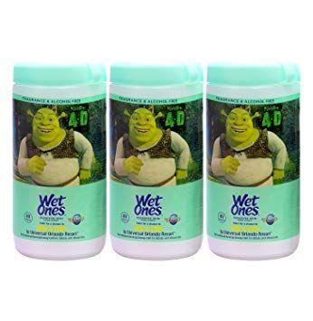 Wet Ones Sensitive Skin Hand Wipes Shrek 4d 40 Wipes Pack