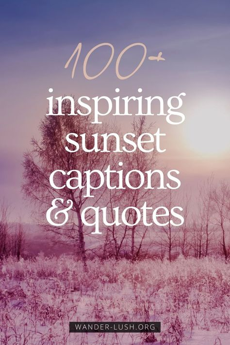 100+ sunset captions and quotes about sunset that capture the beauty of nightfall. Includes poignant, romantic and funny quotes about sunset and life. #Quotes #QuoteoftheDay #Sunset | Beautiful sunset | Magic of sunset | Best sunsets in the world | Travel quotes