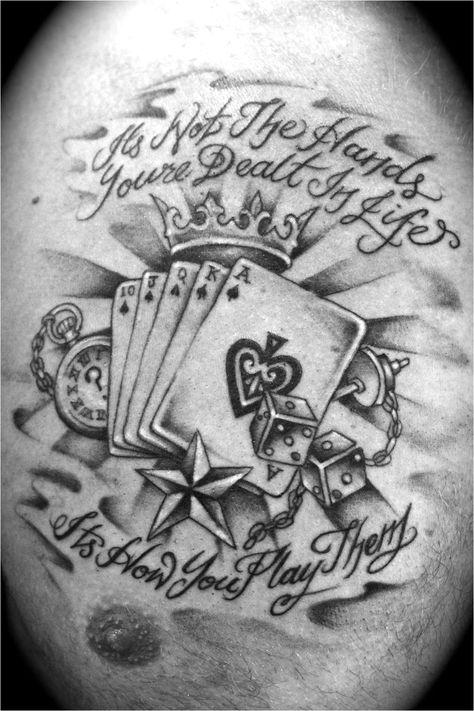 Life S A Gamble Designs Wrist Tattoos Pictures