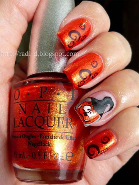 Scary-Halloween-Pumpkins-Nail-Art-Designs,-Ideas-cute