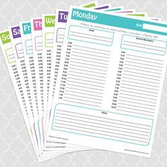 FREE printable a page a day planner