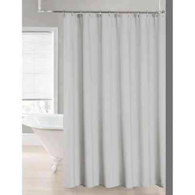 Symple Stuff 2 In 1 Single Shower Curtain Color Silver In 2020