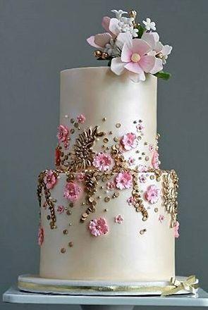 Pearl Cherry Blossom Wedding Cake Cherry Blossom Cake Wedding Cake Pearls Cherry Blossom Wedding Cake