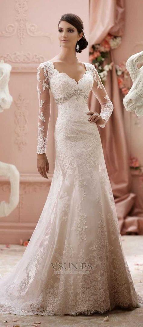2b703bdeb Vestidos de novia de manga larga para este invierno - Si quieres lucir un  vestido elegante