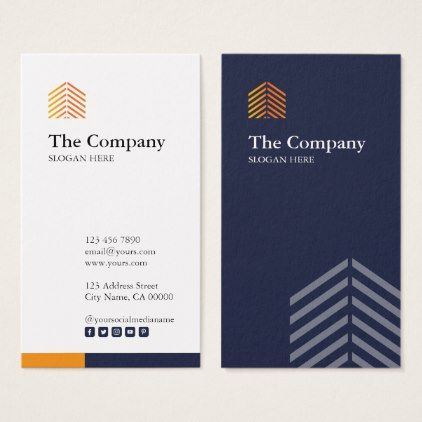 Corporate Vertical Business Card Vertical Business Cards Business Card Logo Design Graphic Design Business Card