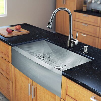 Vigo Camden 36 L X 22 W Farmhouse Kitchen Sink With Faucet