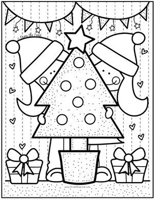 Color Christmas Tree Friends Jpg Christmas Coloring Pages Preschool Christmas Free Christmas Coloring Pages