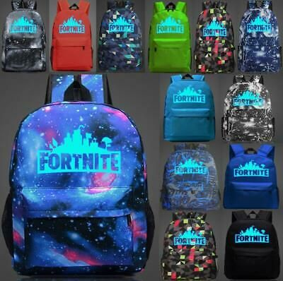 Galaxy Fortnite Battle Royale Rucksack Boys Girls GLOW IN DARK School、Bag 20L