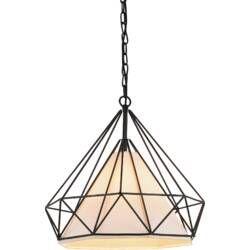 Estrada 1 Light Single Geometric Pendant Geometric Chandelier Geometric Pendant Light Cwi Lighting