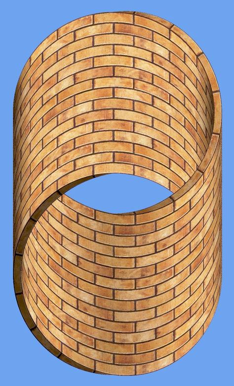 The impossible cylinder (a double-twist Moebius ring). Go on - ask your builder for one of these!