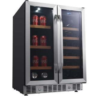 Edgestar Cwb1760fd In 2020 Wine Coolers Drinks French Doors Tempered Glass Door