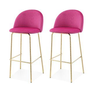 Modern Contemporary Hot Pink Bar Stool Allmodern With Images