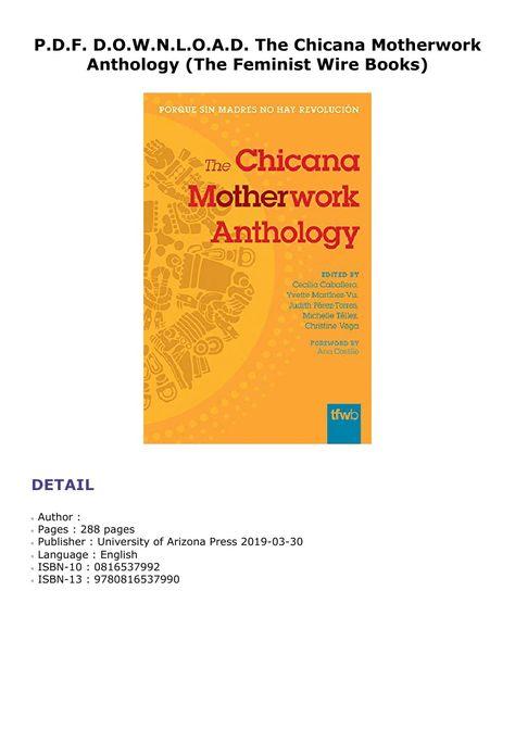The Chicana Motherwork Anthology