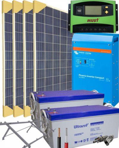 Kit Solar Fotovoltaico 5000w 24v 19200whdia Al Mejor Precio Energia Solar Kit Solar Remolque Camping