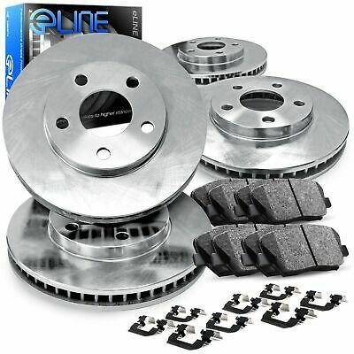 REAR Black Edition Drilled Slotted Brake Rotors /& Ceramic Brake Pads