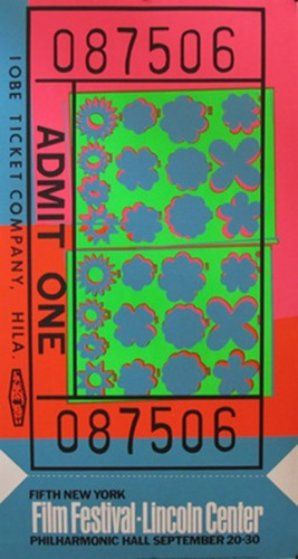 Lincoln Center Ticket II.19  1967 Limited Edition Screenprint by Andy Warhol…