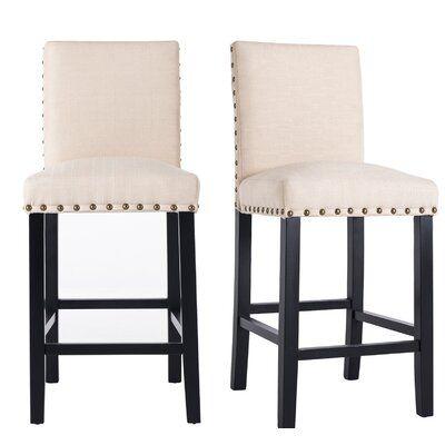 Gracie Oaks Hort 24 8 Counter Stool Upholstery Beige In 2020