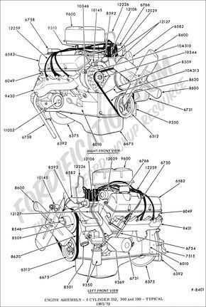 Engine Assembly 8 Cylinder 352 360 390 Fe Typical