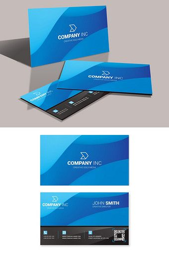 Black And Blue Simple Technology Business Card Cdr Free Download Pikbest Technology Templates Business Cards