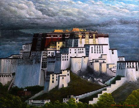 Tamding arts Tibet Ink Tamding Arts Pinterest Tibet - chinesischer garten brucke