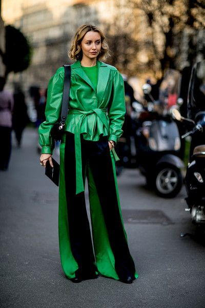 Emerald Queen - Milan Fashion Week's Most Fabulous Street Style, Fall 2018 - Photos