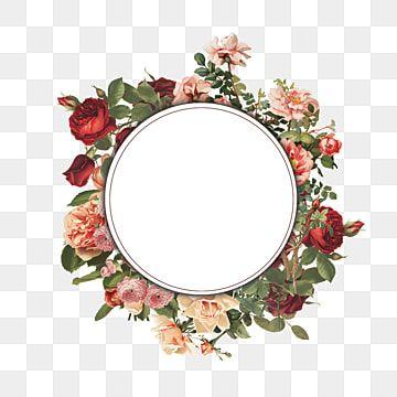 Hand Painted Vintage Floral Frame Frame Vintage Floral Floral Png Transparent Clipart Image And Psd File For Free Download In 2021 Rose Clipart Clip Art Vintage Flower Frame