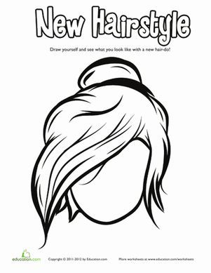 Hair Coloring Pages Education Com Coloring Pages Cool