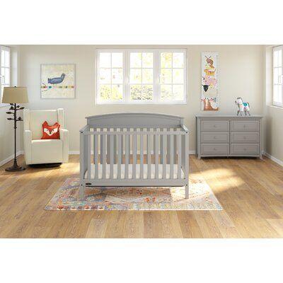 Graco Benton 5 In 1 Convertible Crib Color Pebble Gray Convertible Crib Cribs Pebble Grey