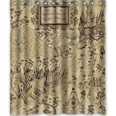 Deyou The Marauders Map Harry Potter Shower Curtain Polyester