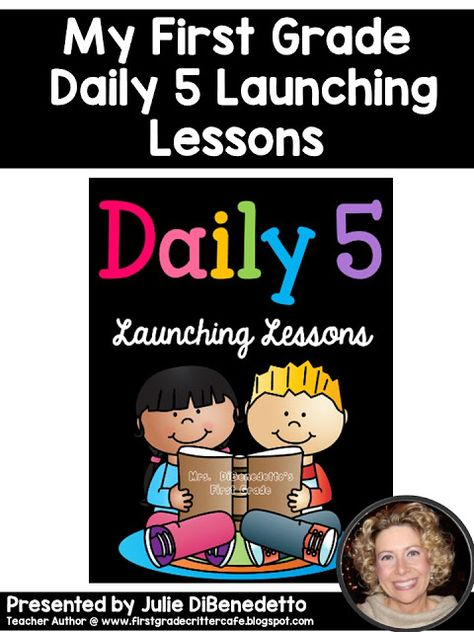 First Grade Critter Cafe': Daily 5 Launching Lessons and Mrs. D's Brand New C. Daily 5 Writing, Daily 5 Reading, First Grade Writing, Teaching First Grade, First Grade Reading, First Grade Classroom, Guided Reading, Primary Classroom, Classroom Hacks