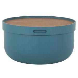 Ziv, table basse, bleu et noyer | Couchtisch walnuss