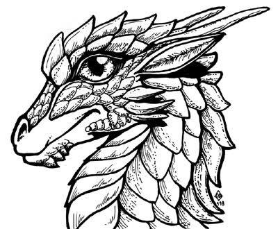 Drachen Und Andere Fabelwesen Bilder Zum Ausdrucken Ausmalen Drachen Skizze Drachenkopf Zeichnung