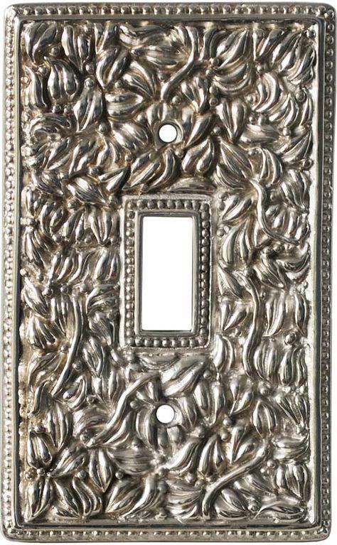 San Michele Antique Silver Light Switch Plates Outlet Covers Wallplates Silver Light Switches Switch Plate Covers Switch Plates