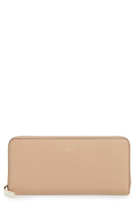 Women's Kate Spade New York Margaux Leather Continental Wallet - Beige