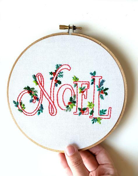 Noel Embroidery Christmas Pattern