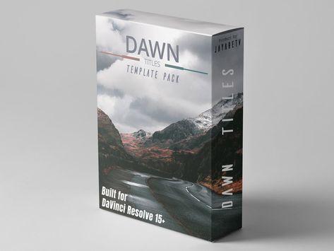 Dawn Titles Templates Video Editing Dawn