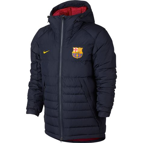 ee700989c14 FC Barcelona Hooded Down Jacket | $179.99 | Holiday Gift & Stocking Stuffer  ideas for the FC Barcelona fan at WorldSoccerShop.com