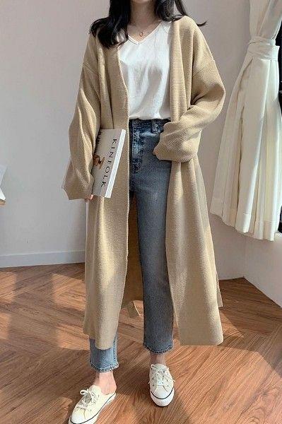 PRP Signal Knit Coat - Korean Clothing & Cosmetics