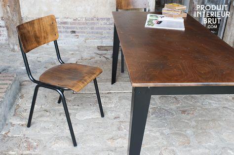 Chaise Doinel - chaise vintage - L'esprit des anciennes salles de cours pour votre intérieur