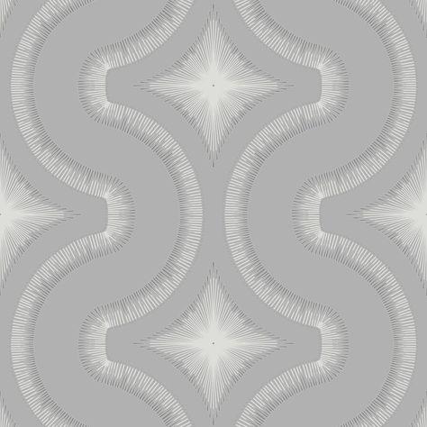Grandeco Diamond Embossed Glitter Vinyl Geometric Retro Style Wallpaper A30002