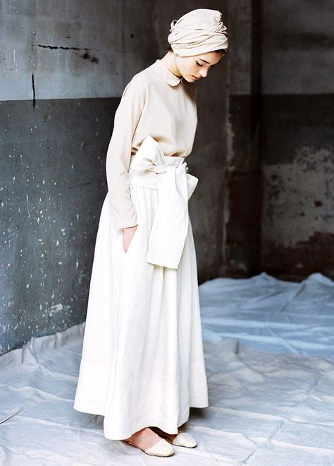 all cream. might have to try out a turban one day elegant hijab inspiration