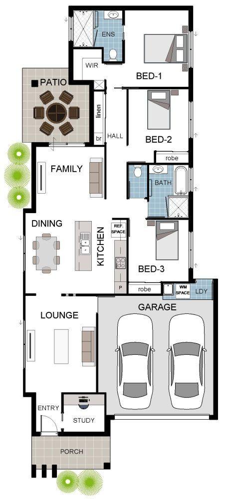 Modern House Designs For Small Blocks Grady Homes House Designs Suited To Narrow Blocks House Plans Home Design Floor Plans House Design